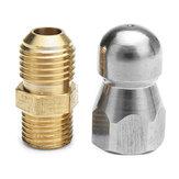 Hochdruck-Ablassdüse 1 Vorderseite 3 Hinteres Gewinde M14 für die Rohrbaggerreinigung