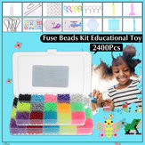 2400pcs DIY Fuse Bead Plastic Perler Stick Water Beads Toys Funny For Kid Crafts Gift