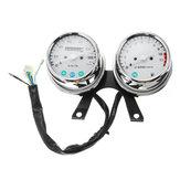 Universal Motorcycle Speedometer Odometer Tachometer Gauge Kit KM/H MPH Cafe Racer Bobber