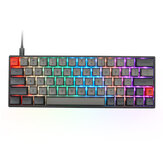 Geek Customized SK64S 64 Tasten Mechanische Gaming-Tastatur NKRO Bluetooth 5.1 Type-C Dual-Mode-RGB-Hintergrundbeleuchtung PBT-Tastaturkappen Gateron Optical Switch-Tastatur