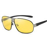 Unisex Vogue Vintage Metal Full-frame Anti-UV Sunglasses