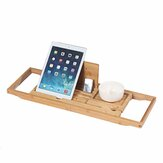 Bamboo Tray Non Slip Bath Tray Bathtub Book Tablet Holder Reading Rack Multi Function Desktop Shelf Supplies