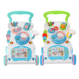 Baby Adjustable Speed Walker Multifuctional Toddler Kids Learning Walking Musical Piano Drawing Gift