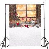 5x7ft Christmas Window Vinyl Background Backdrop Photography Photo Studio Props
