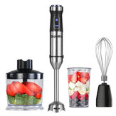 Biolomix 1100W High Speed Immersion Hand Stick Blender Mixer Includes 500mL Chopper and Whisk 600mL Smoothie Cup Stainless Steel Blades