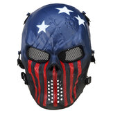 Airsoft Paintball Maschera Full Face Skull Skeleton Metal Mesh Eye Game Guardia di sicurezza