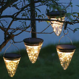 50LED Solar Powered Hanging Light Lamp Bulbs Garden Lights Outdoor Patio Decor