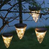 50LEDの太陽動力を与えられた掛かる軽い電球の庭は屋外のテラスの装飾をつけます