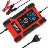 FOXSUR 12V/24V 12A/6A Batteria Caricabatterie a 7 fasi LCD Display Moto e auto Batteria Caricabatterie per AGM LiFePO4 piombo-acido Batteria