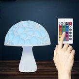 24 cm 3D champignon nuit télécommande tactile tactile 16 couleurs USB lampe de table rechargeable pour la décoration de la maison