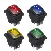 On-Off-On 6 broches 12V Car Boat LED Light Rocker Toggle Switch Latching Waterproof