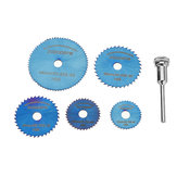 Drillpro 6pcs HSS Circular Saw Blades Set Bule Nano Coated Saw Blade for Rotary Tools