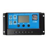 10/20/30A USB Regulador de Batería de Panel Solar Controlador de Carga Inteligente 12/24V