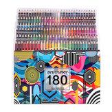 Brutfuner 180 Cores Óleo Lápis de Cor Madeira Conjunto de Lápis Profissional Pré-Afiado para Desenho Escolar Material de Arte para Esboços