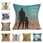 Honana WX-P4 43x43cm Father's Day Gift Flower Cotton Linen Pillow Case Cushion Cover Home Car Decor
