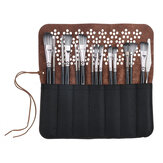 15Pcs Paint Brushes Set Professional Painting Oil Brush Kit for Kids Adults Beginners Painting Artists with Painting Scraper & Felt Cloth Packing Bag