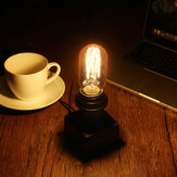 E27 Retro Table Desk Lamp Wood Base Vintage Industrial Urban Loft Reading Bedside Light 90-240V