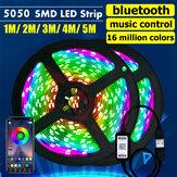1M / 2M / 3M / 4M / 5M 5050 SMD app bluetooth Smart LED luz de tira USB impermeável RGB TV iluminação da barra de fundo