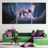 3 Pcs Beijo Do Amor Abstrato Da Lona Impressão Pinturas Pictures Home Room Decor Sem Moldura