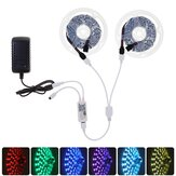 2*7.5M WiFi APP RGB 5050 Non-waterproof LED Strip Light Kit + 24Keys Remote Control Work with Alexa Google Home Christmas Decorations Clearance Christmas Lights