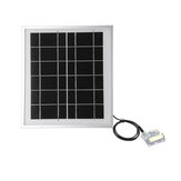 Solar Panel 6V 5W 156 Single Crystal Silicon Cell Tempered Glass/Anodized Aluminum Alloy
