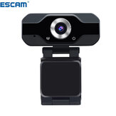 ESCAM PVR006 1080p 2MP H.264 Mini Webcam portátil HD Câmera Web PC 1080p Transmissão ao vivo conveniente com microfone Gravador de vídeo digital USB