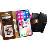 Business Multifunctional Magnetic PU Leather with Card Slots Wallet Full Body Shockproof Flip Protective Case for iPhone X / XS / XR / XS Max / 7 / 8 / 7 Plus / 8 Plus / 6 / 6S / 6 Plus / 6S Plus / 5 / 5S / SE