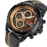 NAVIFORCE 9110 Herenhorloges Luxe mode 24-uurs weergave L