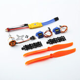 XXD A2212 2212 1400KV Motor+8060 Propeller*2+9g Servo*2+30A ESC RC Power System Combo for RC Drone Airplane