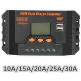 LCD regolatore di carica 10/15/20/25 / 30a 12v / 24v PWM regolatore pannello solare