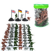 103PCS Christmas Soldier National Flags Figures Accessories Model Toys For Kids Children Gift