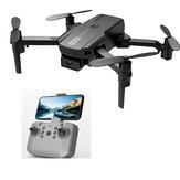 2.4G Mini Drone WIFI FPV Com Câmera 4K Dual HD 3D Flips Modo Headless Pressão de Ar Altitude Manter Drone RC Dobrável Quadricóptero RTF