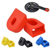 BIKIGHT 1 Pair Bicycle Crankset Crank Protective Sleeve Cover Protector MTB Mountain Road Bike Arm Boots Fixed Gear Bicycle Accessories