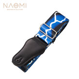 Naomi Guitar Strap Adjustable Guitar Strap Jacquard Weave Hootenanny Guitar Strap with Leather Ends (Blue Light)