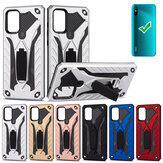 Bakeey for Xiaomi Redmi 9A Case Armor Shockproof Anti-Fingerprint with Ring Bracket Stand PC + TPU Protective Case Non-original