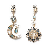 Bohemian Trendy Star Sun Moon Ear Drop Earring