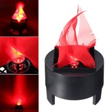 Halloween 3W Prop LED Fake Flame Lamp Fackla Flood Light Fire Pot Heminredning AC85-260V