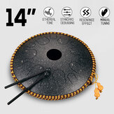 HLURU 14 Notes Professional Hand Pan Steel Tongue Drum Manual Углеродистая сталь Ударный Handpan Сумка