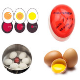 KCASA KC-008 1pc Egg Perfect Color Changing Timer Yummy Soft Hard Boiled Eggs Cooking Kitchen Eco-Friendly Resin Eggs Timer Red