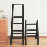 MrBond Foldable Herringbone Folding Ladder Support 135 KG with Corrosion Resistant Aluminum Wide Pedal for Shelf Or Stool
