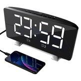 ポリフォニックダブル目覚まし時計LED大画面ディスプレイ電子時計