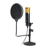 Audio Dynamischer USB-Kondensator Tonaufnahme Gesangsmikrofon Mikrofon Satz Mit Ständerhalterung