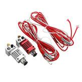 V6 1,75 mm All Metal Zilver / Rood J-Head Hotend Remote Extruder Kit met verwarmingsbuis voor CR10 / CR8 3D-printer