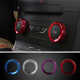 4pcs / Set Cars Alu Decoratie Stereo Knop Ring Air Conditioning Knop Ring Circle Voor Ford Edge