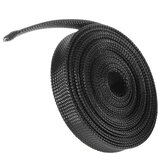 6m 8mm/10mm/12mm/15mm/20mm Wire Cable Sheathing Expandable Sleeving Braided Loom Tubing Black