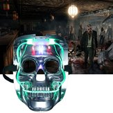 Silver Light Up LED Esqueleto Caveira Rave Máscara Halloween Costume Costume Party