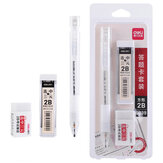 Deli S839 Stationery Set Exam Set 2B Eraser Pencil Refill Three-Piece Set  School  Supplies For Students