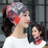 Printed letter Beanie Hat Chemotherapy Cap Breathable Turban Outdoor Cap