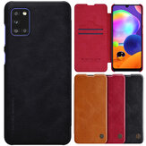 Nillkin for Samsung Galaxy A31 Case Bumper Flip Shockproof with Card Slot PU Leather Full Cover Protective Case