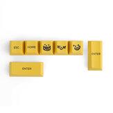 Suplemento de 7 teclas emoticons amarelos Keycap Set Cherry Profile R4 R2 Teclas de sublimação PBT para teclados Mecânico